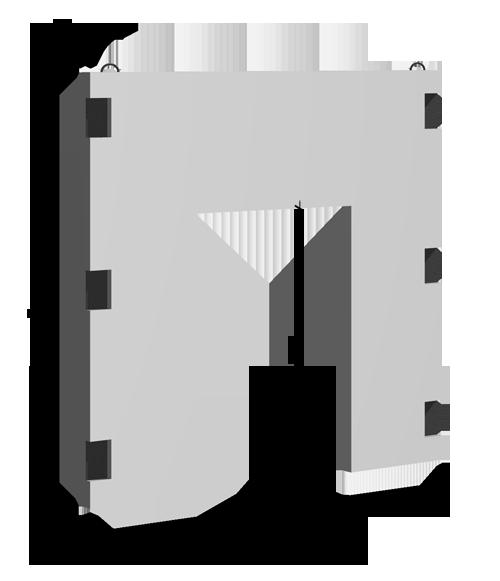 Диафрагмы бесконсольные с проемом В=1220м серия ИИ-04Н-5К