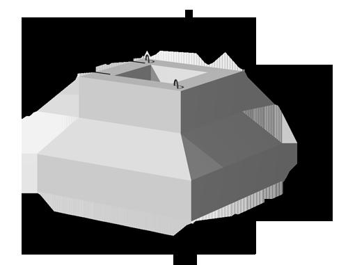 Фундаменты сборные железобетонные для колонн сечением 400х400 мм, 800х400 мм КС-031