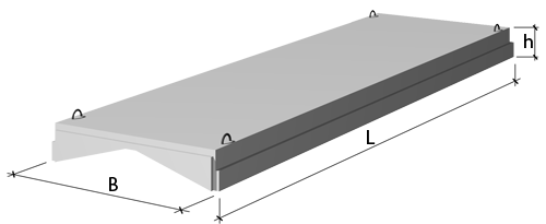 Плиты покрытия 1,5 х 6 м   серий 1.465