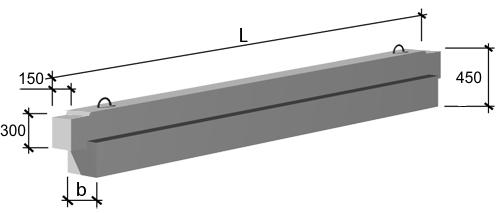 Ригели связевого каркаса высотой 450 мм ИИ-04-3 выпуск 3