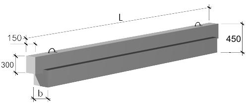 Ригели связевого каркаса  высотой 450 мм 1.020-1/83 выпуск 3-1