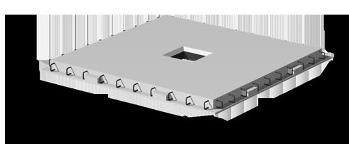 Конструкции безригельного каркаса для многоэтажных зданий серий КБК и КУБ 2.5
