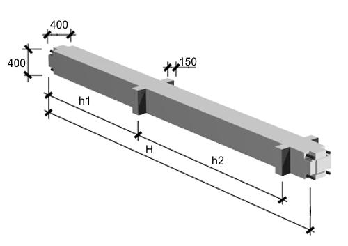 Колонны адинистративно-бытовых зданий серий 1.020-1/83, 1.020-1/87